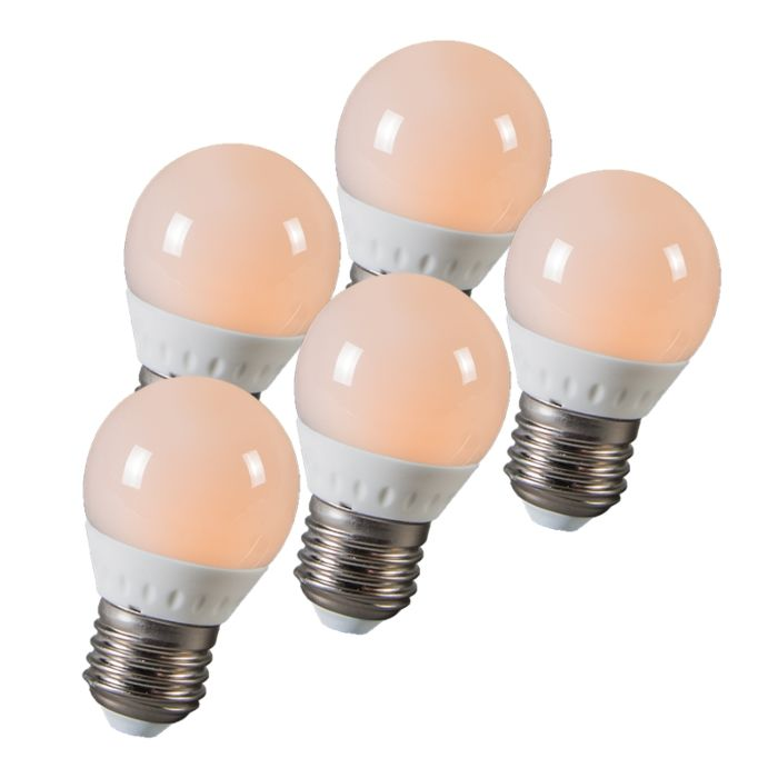 Boule-à-LED-E27-3W-250-lumens-environ-25W-série-de-5