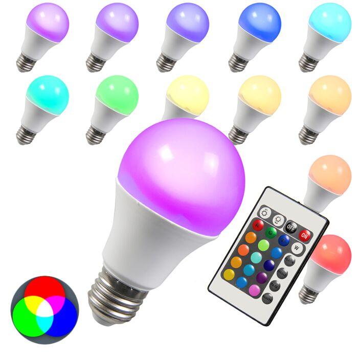 Lampe-à-LED-RGB-E27-3W
