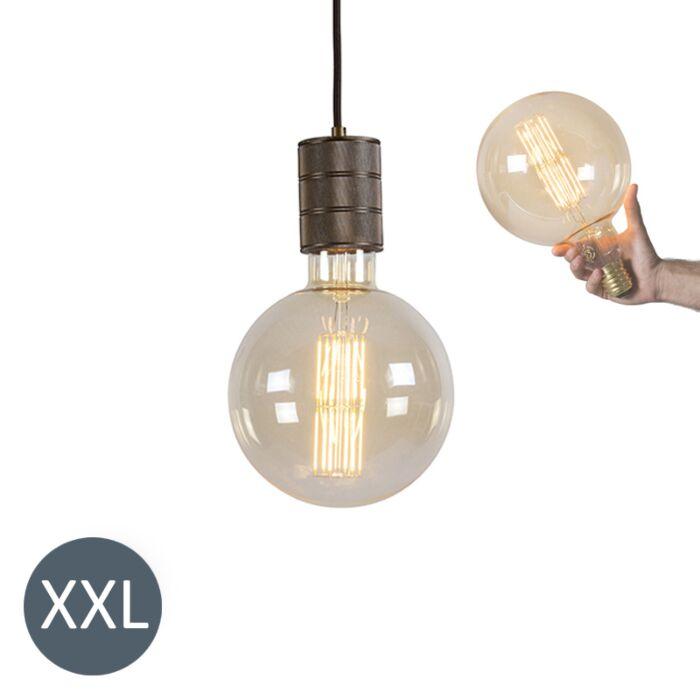 Lampe-suspension-megaglobe-en-bronze-avec-lampe-LED-dimmable