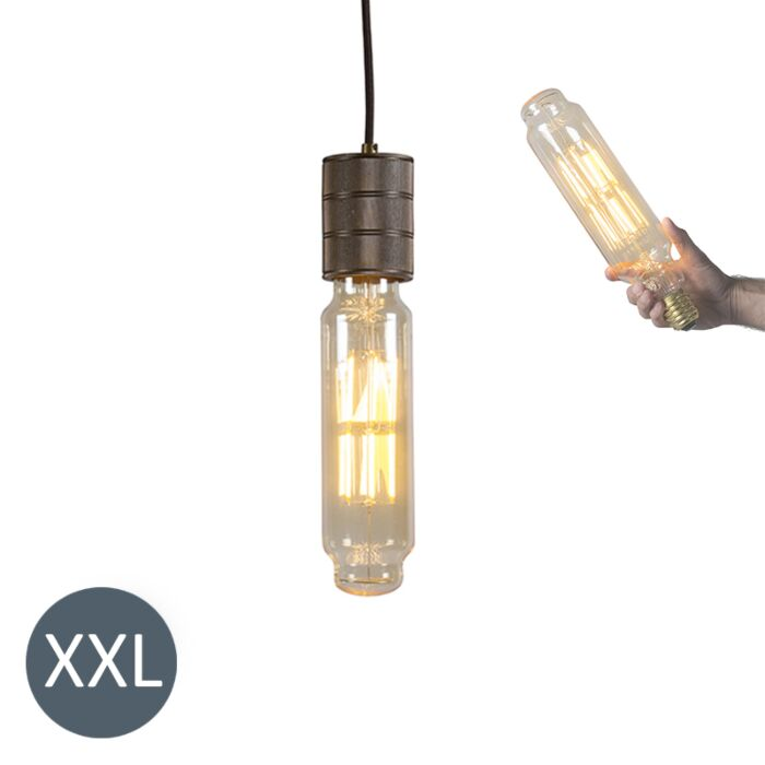 Suspension-Tower-bronze-avec-lampe-LED-dimmable
