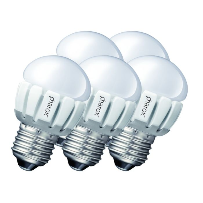 Ensemble-de-5-Pharox-LED-200-P45-E27-5W-230V