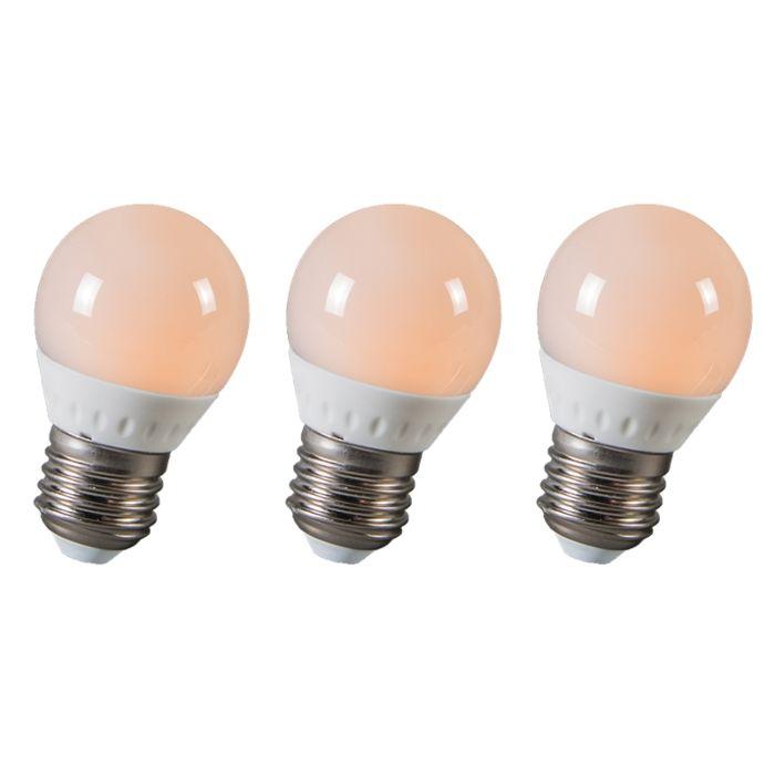Boule-à-LED-E27-3W-250-lumens-environ-25W-série-de-3