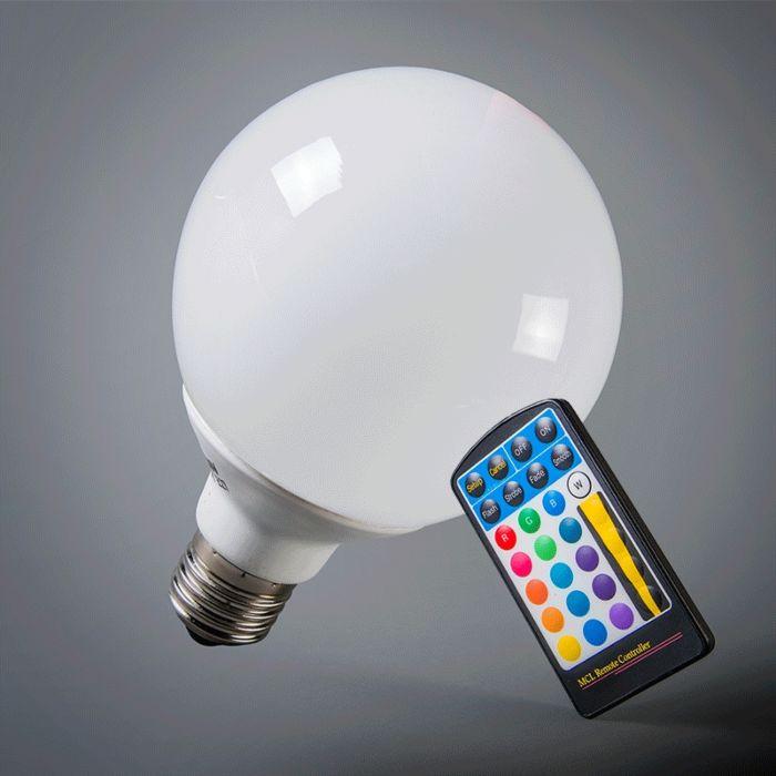 Globe-LED-E27-RGB-95mm-avec-télécommande