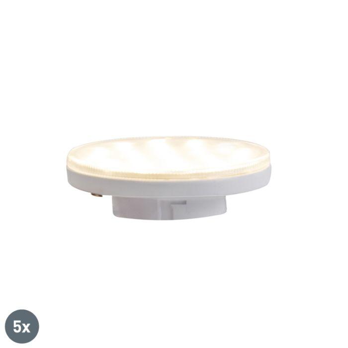 Lot-de-5-lampes-LED-GX53-dimmables-3-niveaux-3W-350-lm-3000K