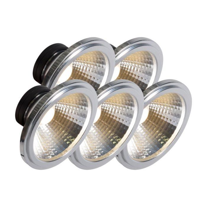 AR111-lampe-à-LED-COB-7W-24-°-ensemble-de-5