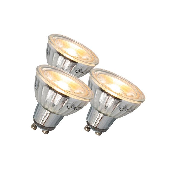 GU10-lampe-à-LED-7W-500LM-3000K-dimmable-ensemble-de-3