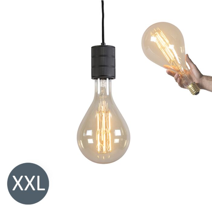 Lampe-suspendue-Splash-noire-avec-lampe-à-LED-dimmable