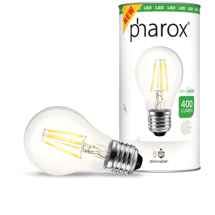 Lampe-Pharox-LED-claire-E27-4W-400-lumen