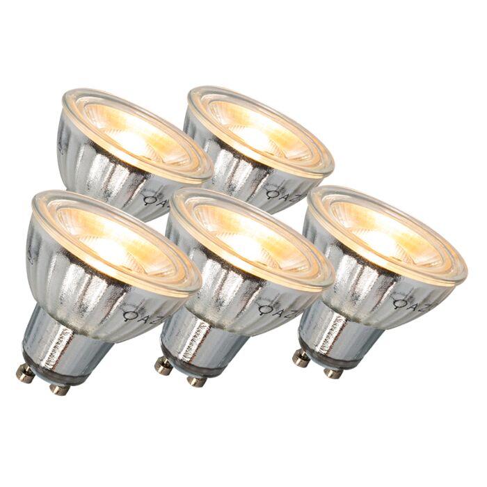 GU10-lampe-à-LED-7W-500LM-3000K-dimmable-ensemble-de-5