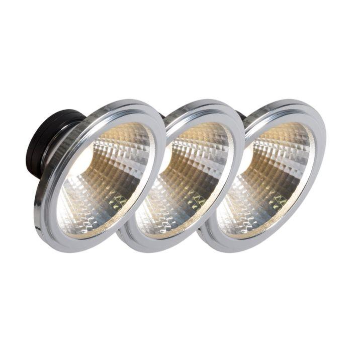 AR111-lampe-à-LED-COB-7W-24-°-ensemble-de-3
