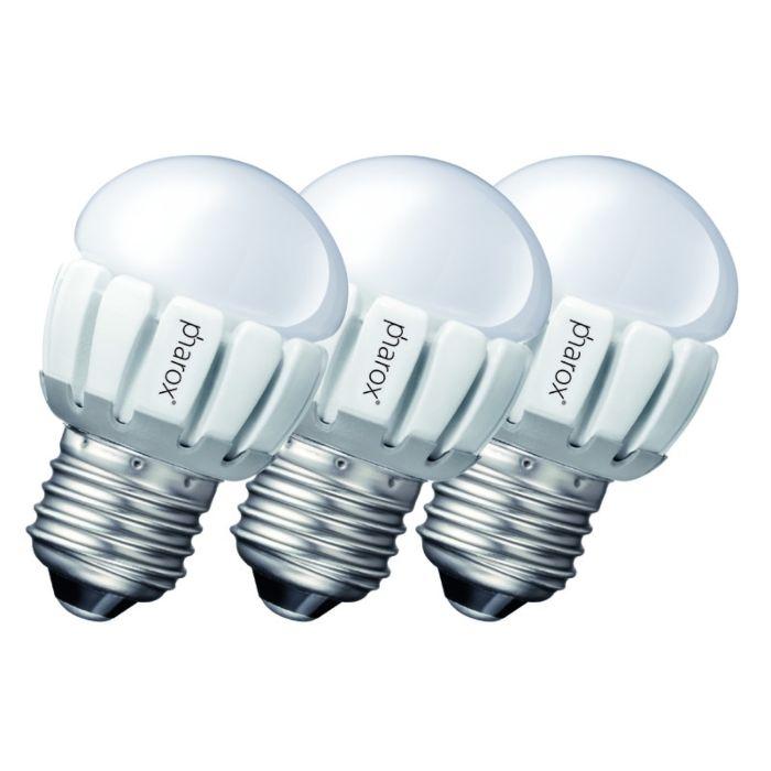Ensemble-de-3-Pharox-LED-200-P45-E27-5W-230V