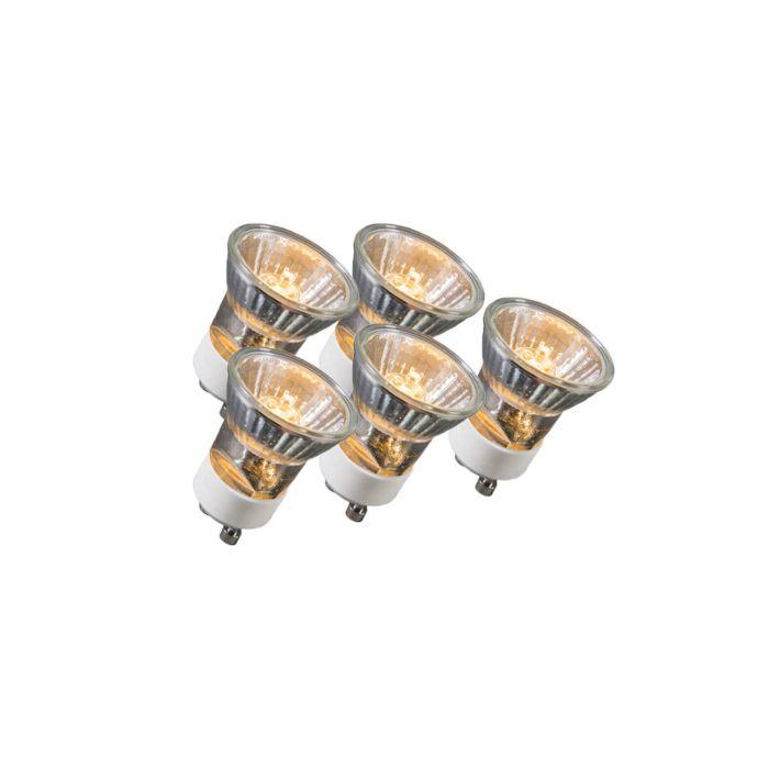 Ensemble-de-5-lampes-halogènes-GU10-35W-230V-35mm