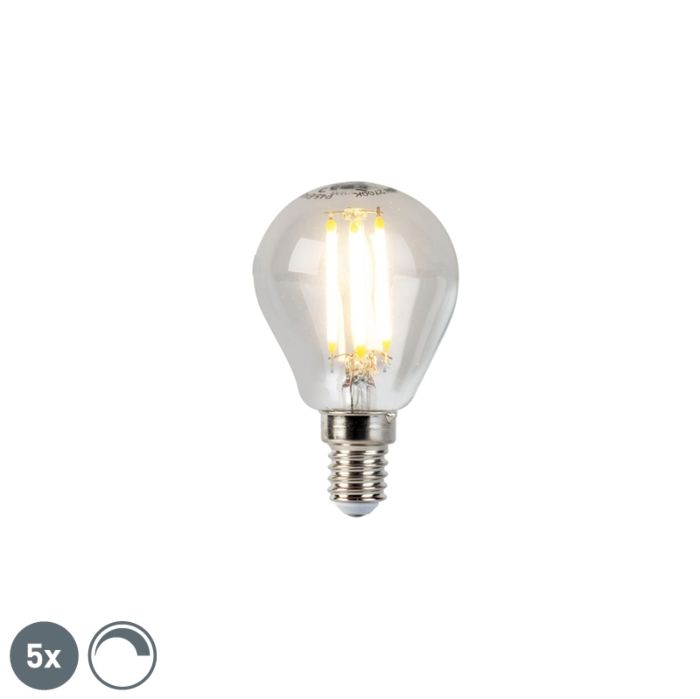 Lot-de-5-lampes-à-boule-à-filament-LED-dimmable-E14-5W-470lm-2700K