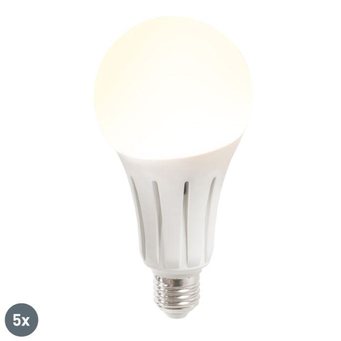Set-de-5-ampoules-LED-B80-24W-E27-blanc-chaud