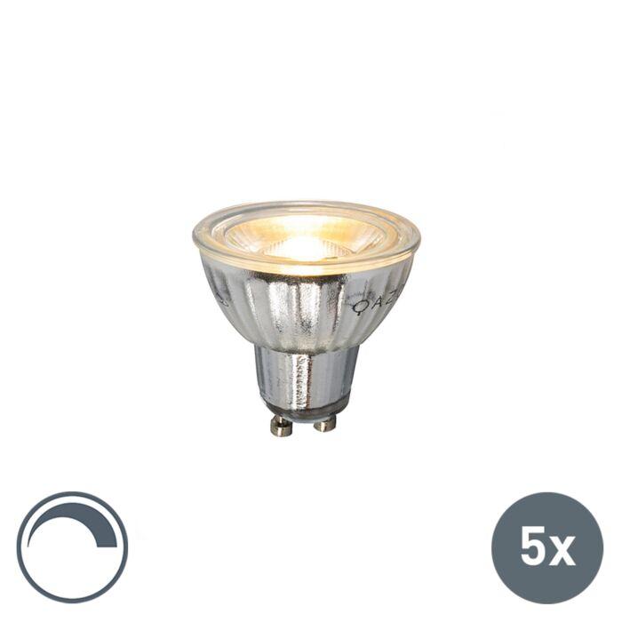 Set-de-5-ampoules-LED-GU10-230V-5W-380LM-2700K-dimmables