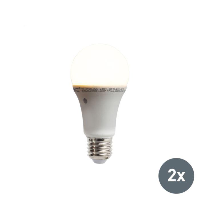 Ensemble-de-2-lampes-à-LED-avec-capteur-intégré-lumière-/-obscurité-E27-9W,-806-lumens,-blanc-chaud,-2700K