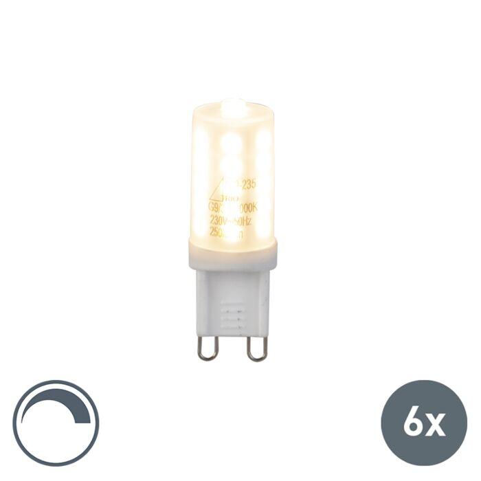 Set-de-6-LED-G9-3W-250Lm-dimmable