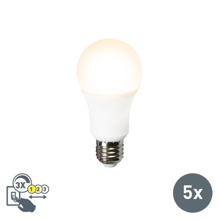 Set-de-5-ampoules-LED-A60-12W-E27-3-en-1