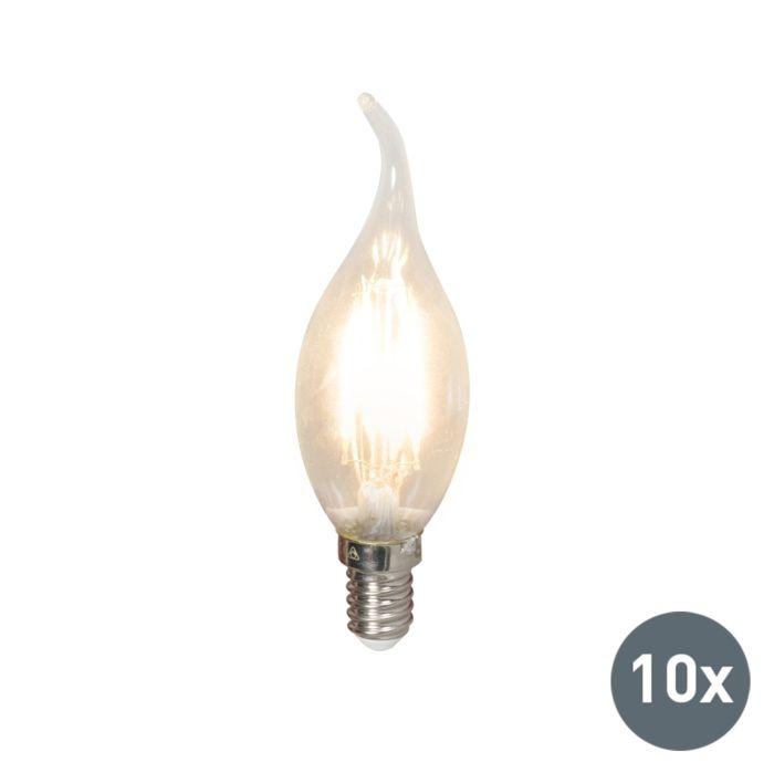 Ensemble-de-10-lampes-à-DEL-à-bougie-à-pointe-de-filament-E14-240V-3.5W-350lm-BXS35-dimmable