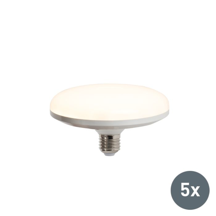 Ensemble-de-5-lampes-à-LED-UFO-E27-18W-blanc-chaud