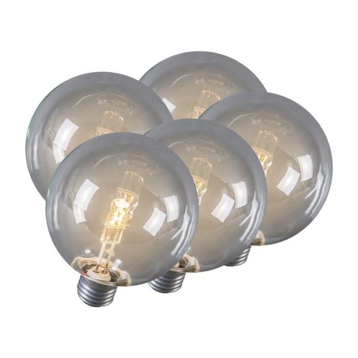 Set-de-5-ampoules-halogènes-E27-Globe-95mm-28W