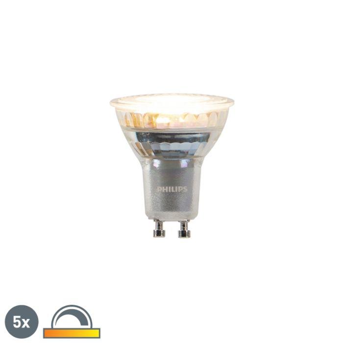 Lot-de-5-lampes-LED-GU10-dim-pour-chauffer-Philips-3,7-W-260-lm