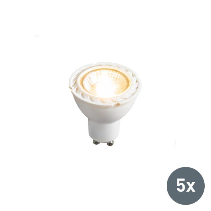 Set-de-5-ampoules-LED-GU10-240V-7W-2700K-dimmables