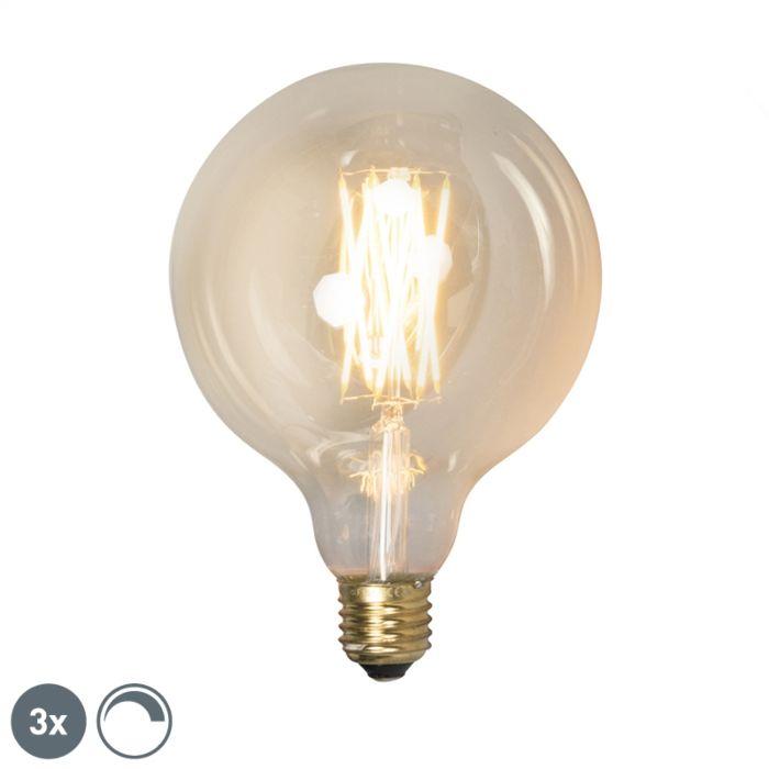 Lot-de-3-lampes-LED-dimmables-E27-G125-goldline-320lm-2100-K