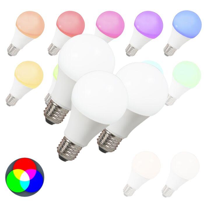 Set-de-3-ampoules-LED-E27-240V-7W-500lm-A60-Smart
