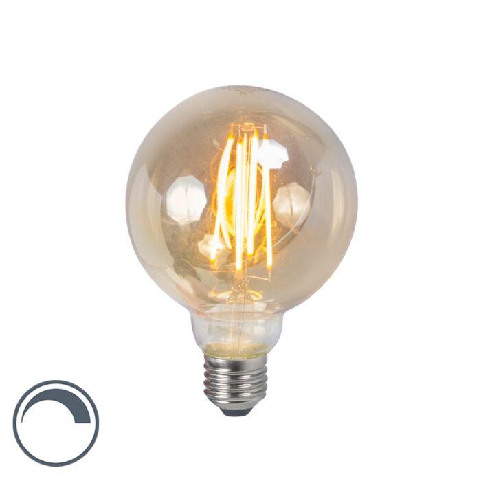 Lampe-à-filament-à-LED-E27-5W-2200K-G95-fumée-dimmable
