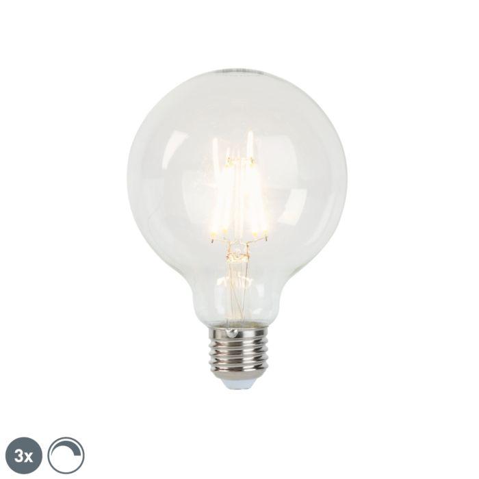 Lot-de-3-lampes-à-incandescence-LED-dimmables-E27-G95-5W-470-lm-2700K