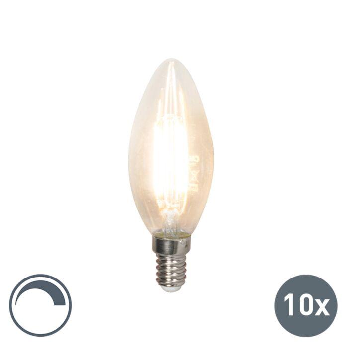 Lot-de-10-bougies-à-incandescence-LED-E14-240V-3.5W-350lm-B35-dimmable