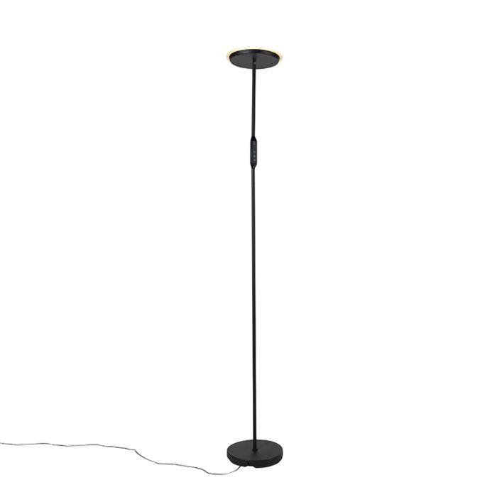Lampadaire-moderne-noir-avec-LED-et-variateur---Bumu