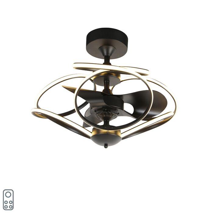 Ventilateur-de-plafond-design-noir-avec-télécommande-avec-LED---Kauv