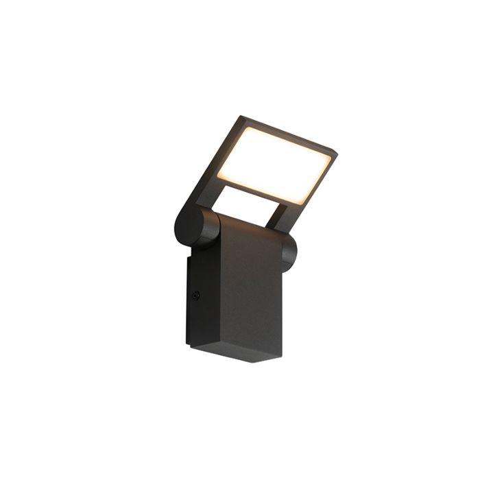 Applique-d'extérieur-anthracite-avec-LED-IP54-réglable---Zane