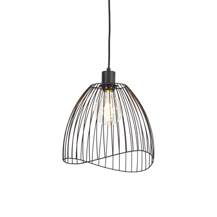 Lampe-à-suspension-design-noire-29-cm---Pua