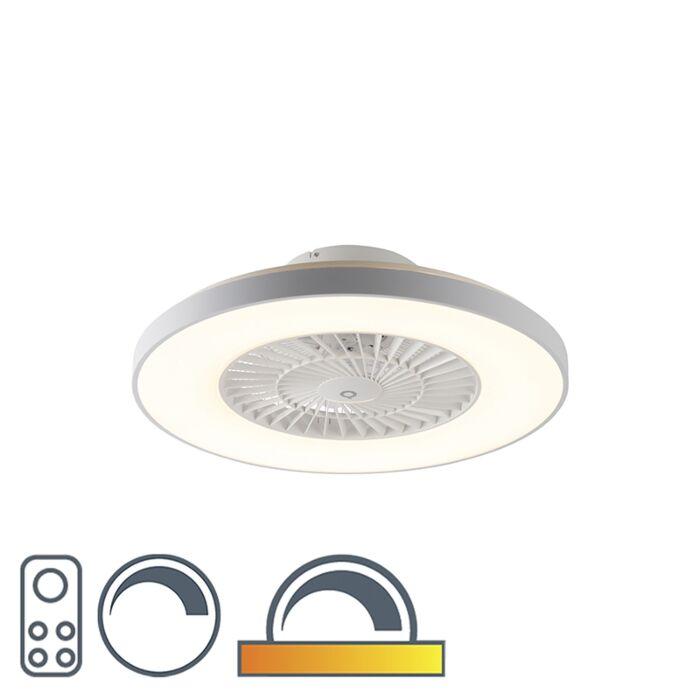 Ventilateur-de-plafond-blanc-effet-étoile-dimmable---Climo