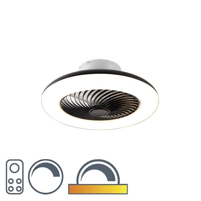 Ventilateur-de-plafond-noir-avec-LED-avec-télécommande---Clima