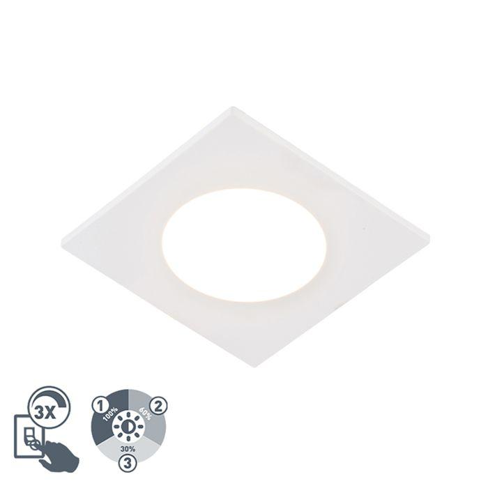 Spot-encastrable-moderne-blanc-avec-LED-dimmable-en-3-étapes-IP65---Simply