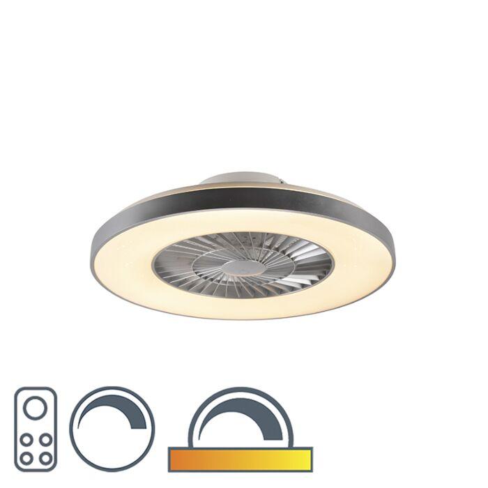 Ventilateur-de-plafond-argent-avec-effet-étoile-dimmable---Climo