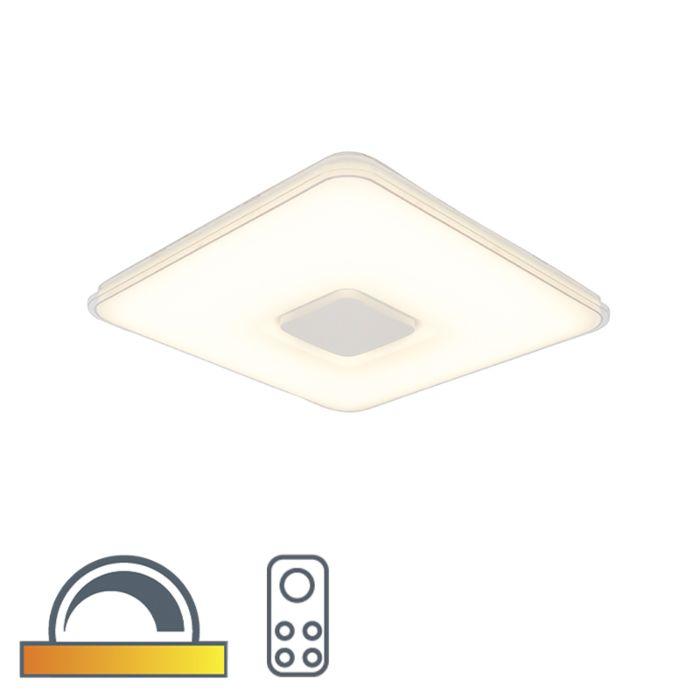 Plafonnier-carré-avec-télécommande-LED-dim-pour-chauffer---Seoul
