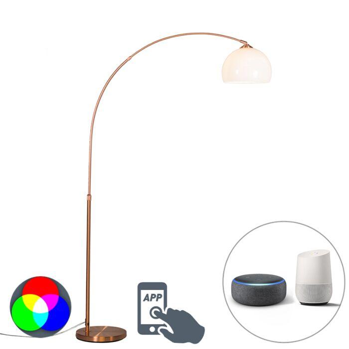 Lampe-à-arc-moderne-intelligente-en-cuivre-avec-A60-Wifi---Arc-Basic
