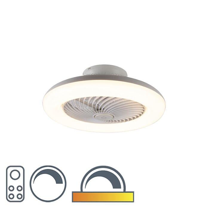 Ventilateur-de-plafond-design-blanc-avec-LED-dimmable---Clima
