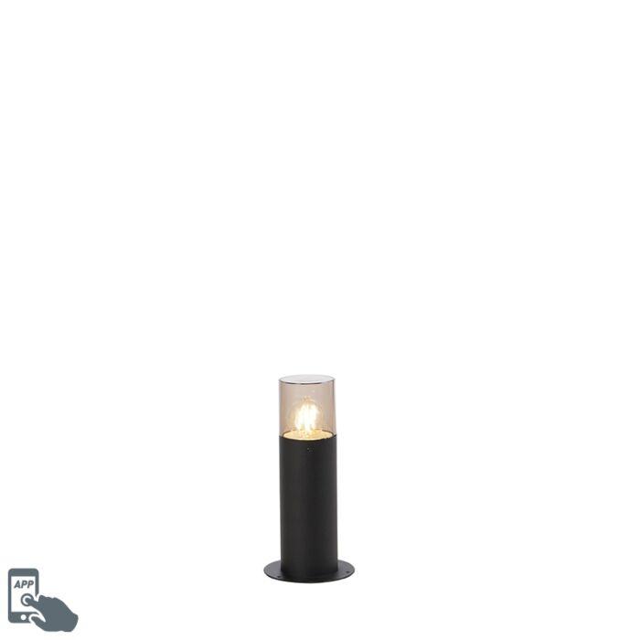 Lampe-d'extérieur-sur-pied-Smart-noir-30-cm-avec-WiFi-A60---Odense