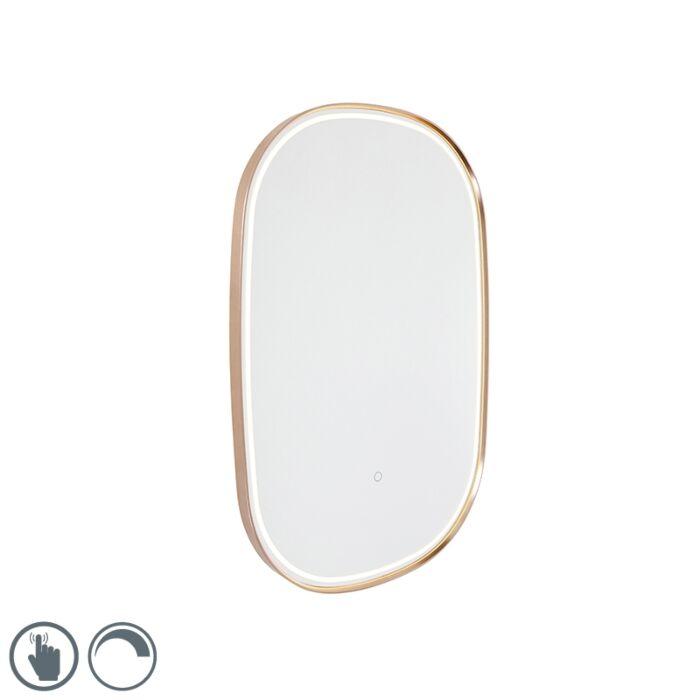 Miroir-de-salle-de-bain-en-cuivre-avec-LED-avec-variateur-tactile-ovale---Miral