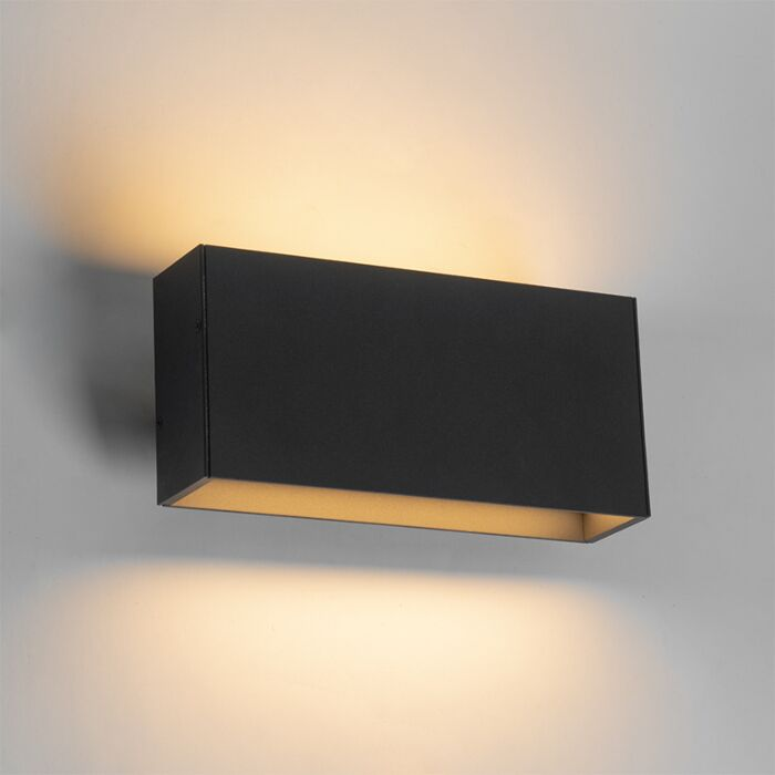 Moderne-buitenwandlamp-grijs-incl.-LED-IP54---Spector