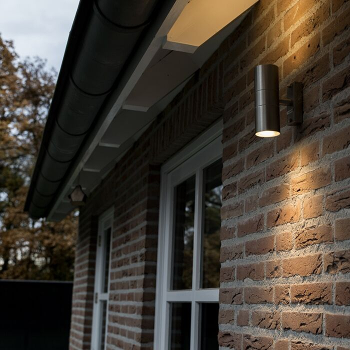 Lampe-d'extérieur-Duo-acier