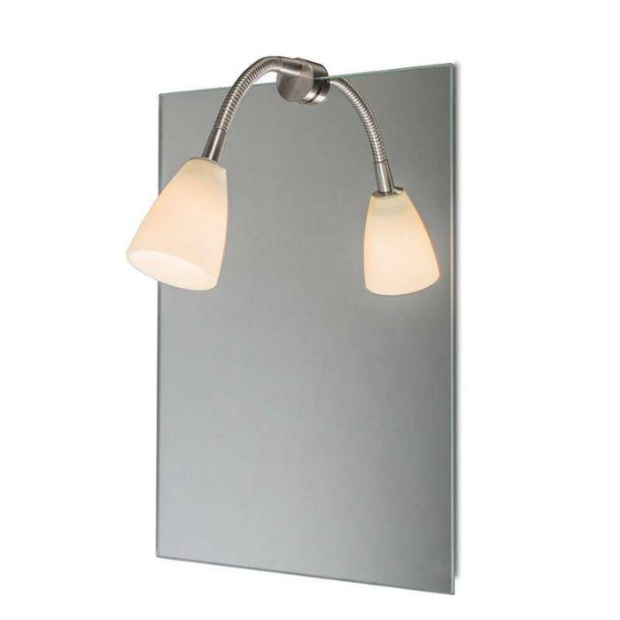 Miroir-Eclairage-Curvus-Acier