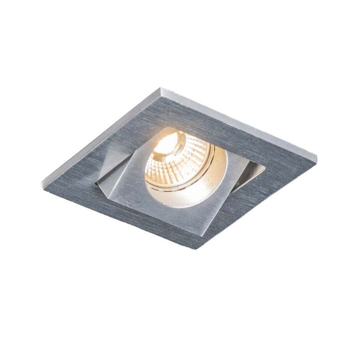 Spot-encastrable-Quale-carré-en-aluminium-à-LED