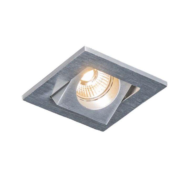 Spot-encastrable-Quale-carré-en-aluminium-à-LED